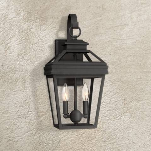 Perfect For A Porch Or Patio This Outdoor Wall Light Comes In A Traditional Inspired Lantern Desig Black Outdoor Wall Lights Wall Lights Outdoor Wall Lighting