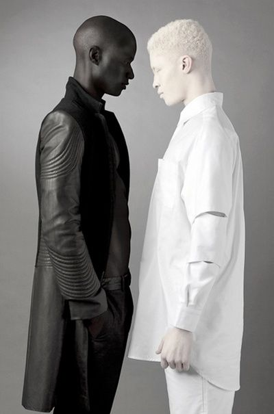 areyouahauntedpotato: ozyreads: stankface: mentation: n4maste: i think its cool that theyre both black My history professor told me there are 300 shades of African skin, I believe him. FINALLY! A fucking pic that doesn't fetishize albinos!!!! I never thought I'd live to see the day tbh. holy shit that is an amazing visual Omg what I thought those people were painted Holy cow is that their real skin human diversity is amazing