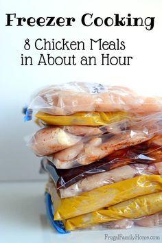 Freezer Cooking Chicken, 8 Easy Chicken Freezer Meals