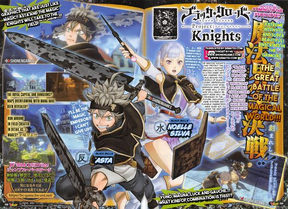 Black Clover Project Knights New Details And Characters Revealed