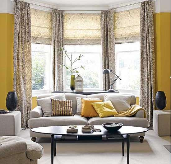 Love, flip grey walls, yellow curtains | Home is Where the Heart ...
