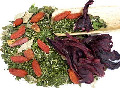 Weight loss diet- konacha green tea with medicinal herbs hibiscus goji berry flavor - Japanese kampo weight loss green tea shop