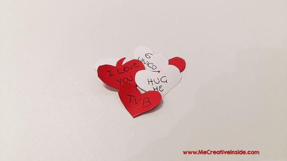 Me CreativeInside San Valentino Barattolo jar auguri biglietti cartoncino