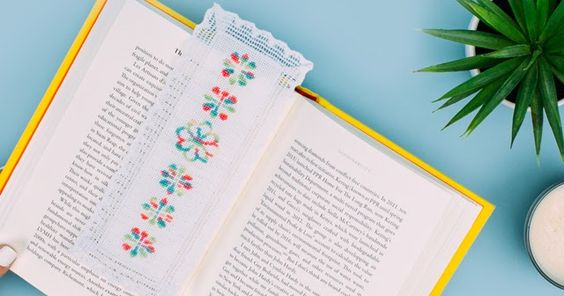 O Blog da DMC: Marcador de livros em ponto de cruz com Coloris