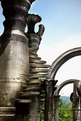 """Stairs to Heaven""   Las Construcciones Surrealistas de Edward James   Xilitla, San Luis Potosí"