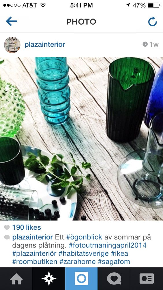 Green glass and wood