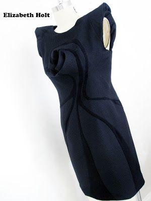 Sew Elizabeth : TR Grande finale 2012/13 Part 3 Black Vortex dress...