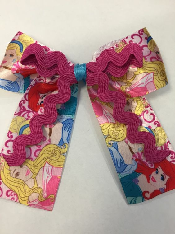 A personal favorite from my Etsy shop https://www.etsy.com/listing/224671003/pink-disney-princesses-hair-bow