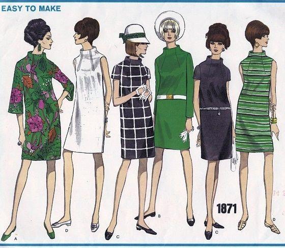 Vintage Mod Dress Patterns  the art of fashion illustration ...