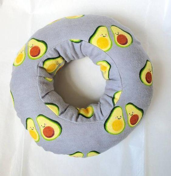 Piercing Pillow Ear Pillow Donut Pillow Ear Piercing Pillow Avocados With Images Donut Pillow Pillows Piercings