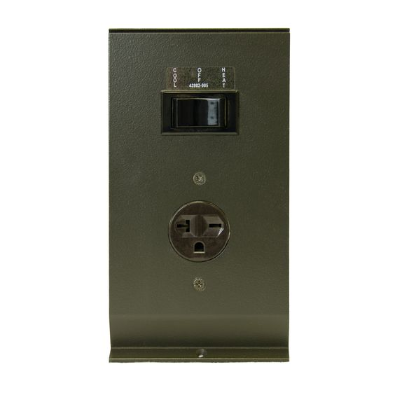Hydronic / Architectural Style Baseboard Air Conditioning Receptacle