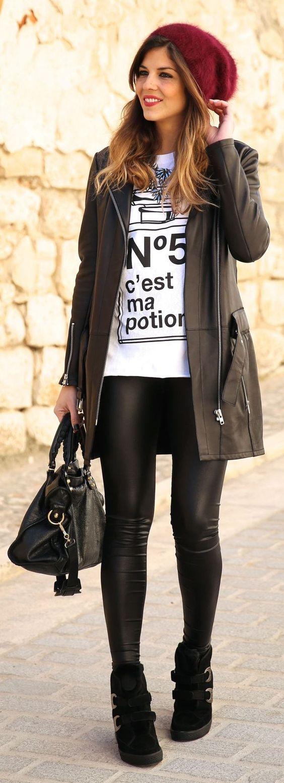 Leather look para qualquer ocasião: