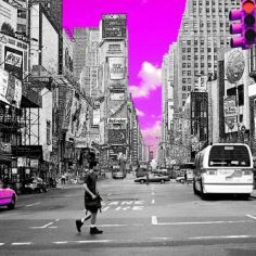 Tableau Pink New York, quand la couleur vient sublimer la ville ! Réalisé par Days