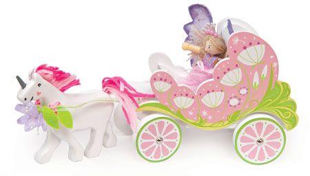 TV642 Le Toy Van Fairy Carriage & Unicorn Reviewed on www.babyworld.co.uk