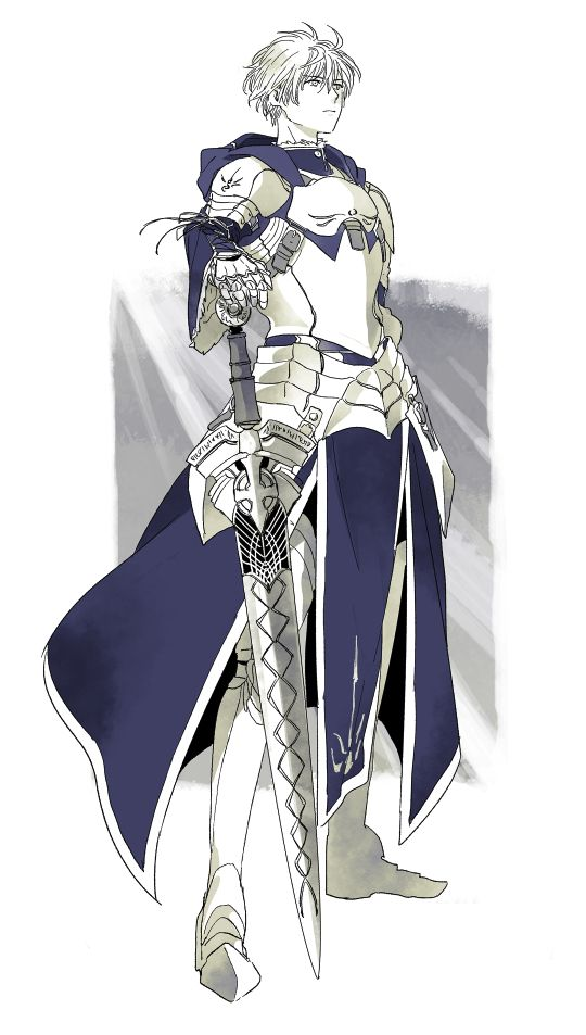 Saber Male Fate Prototype Character Art Fate Anime Series
