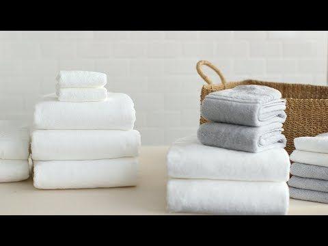 How To Fold Bath Towels Martha Stewart Youtube How To Fold Towels Towel Bath Towels