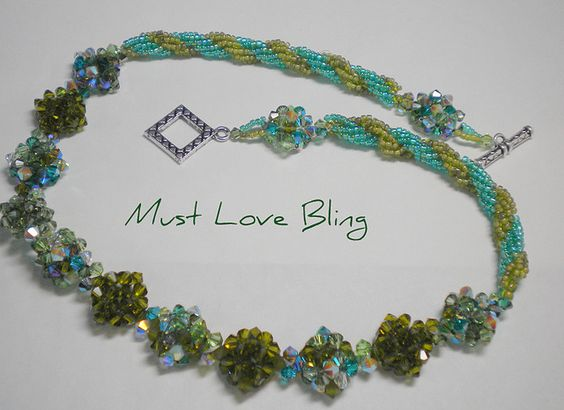 Swarovski Crystal Button Necklace | Flickr - Photo Sharing!