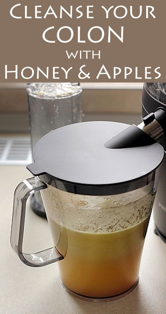 cleanse your colon with honey and apples other the morning and blenders. Black Bedroom Furniture Sets. Home Design Ideas