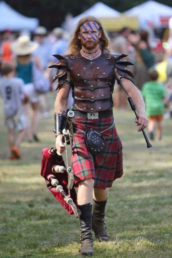 Armure cuir kilt écossais