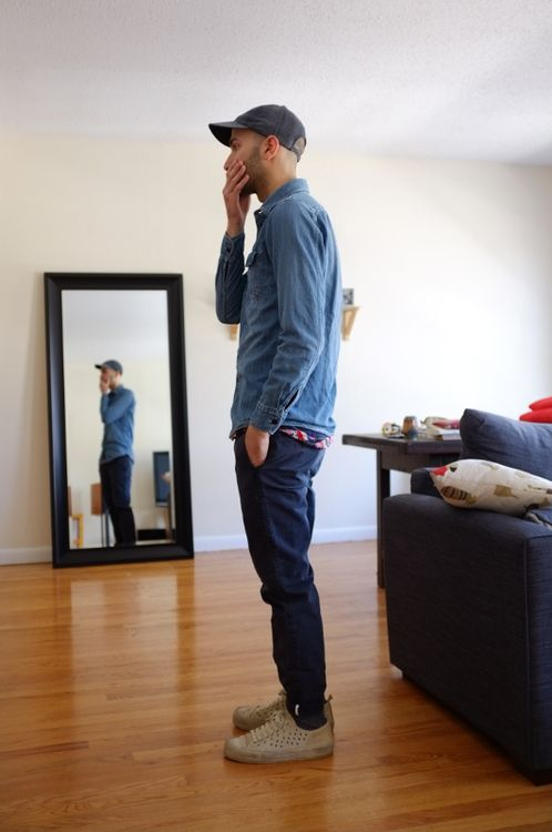 eo to to henley layered under shirt
