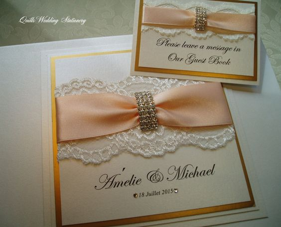 Luxury Wedding Guest Book eith Diamante Arch Buckle. Various Colour Options Available by QuillsWeddingFavours on Etsy