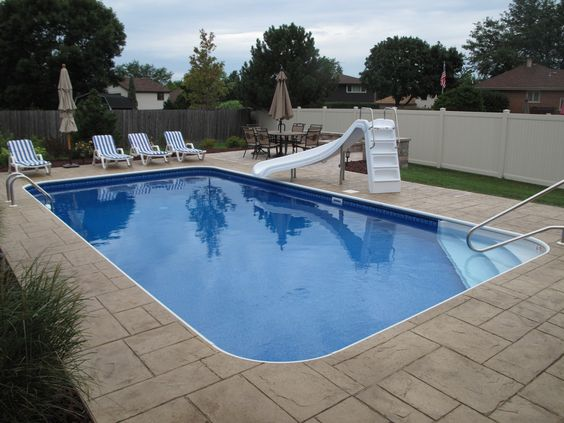 Backyard Pool Design Tool :  my pool pool deck and more rectangle pool built ins aqua pools