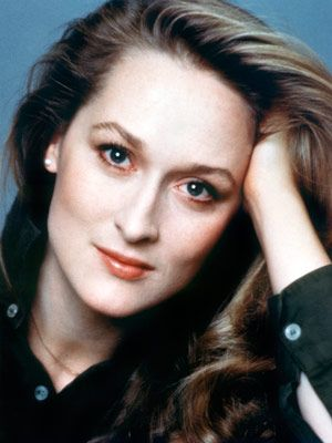 Meryl Streep: Who always seems to know something we don't, and to find it amusing. We don't know if this is what's called flirting with the audience, but it works.