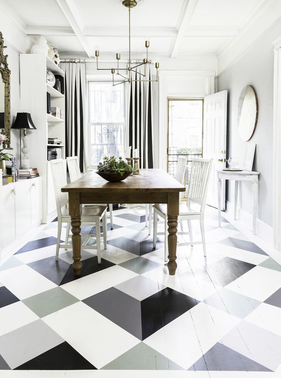 megan pflugdesigns - painted floor - malowane podłogi