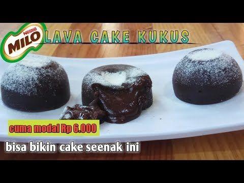 Milo Lava Cake Kukus Hanya Modal Rp 6 000 Mudah Tanpa Mixer Tanpa Oven Youtube Kue Kering Resep Masakan Kue