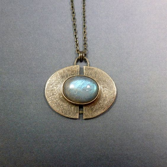 Labradorite Pendant in Sterling Silver by oblivionjewellery, £109.00 http://www.thesterlingsilver.com/product/miore-womens-necklace-925-sterling-silver-with-amethyst-pendant-and-zirconia-mhs006n/