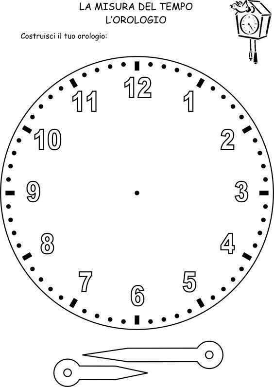 Uhr Zu Montieren Montieren Uhr In 2020 Schulideen Kinder