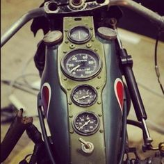 82 cb750 cafe gas tank with gauges - Google Search