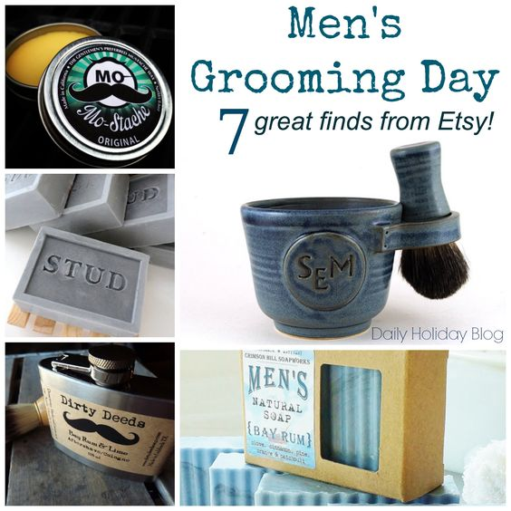 mens grooming day etsy finds cool stuff on etsy pinterest men 39 s grooming and etsy. Black Bedroom Furniture Sets. Home Design Ideas