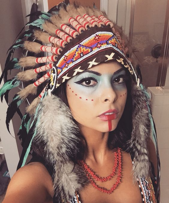 native american makeup costume face painting. Black Bedroom Furniture Sets. Home Design Ideas