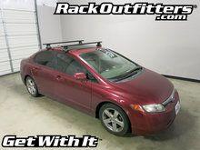 Honda Civic Sedan Thule Rapid Traverse BLACK AeroBlade Roof Rack '06-'12