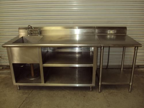 Lot S S P 30 X 60 Stainless Steel Kitchen Food Table Prep Sink