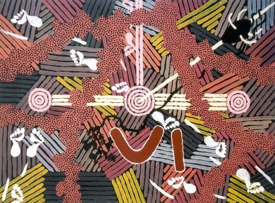 Clifford Possum Tjapaltjarri, Ngarlu, Love Story http://gallery.aboriginalartdirectory.com/aboriginal-art/clifford-possum-tjapaltjarri/ngarlu-love-story.php