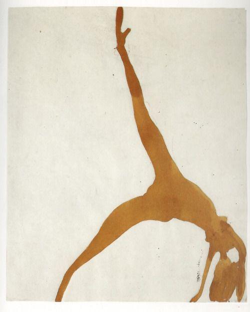 Joseph Beuys. Femme artiste 1950/1951Chlorure ferreux, crayon, 25x20,4 cm