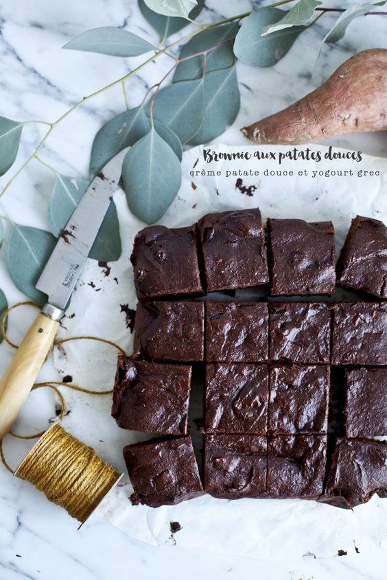Brownie aux patates douces et chocolat noir © Emiliemurmure