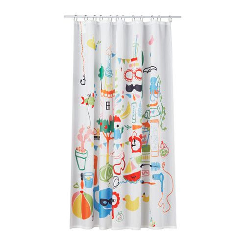 BADBÄCK Shower curtain - unfortunate name!!! But cute and simple for baby :)