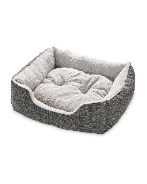 Grey Small Plush Pet Bed Aldi Uk Plush Pet Bed Cat Bed