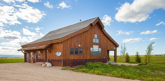 Simple and affordable barn home would have to add garage for Affordable barn homes