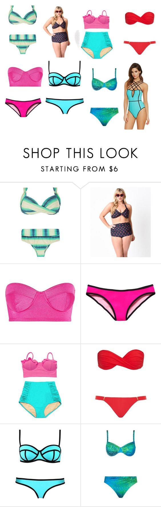 """""""summer swim day"""" by shoelover-123 ❤ liked on Polyvore featuring Esther Williams, Norma Kamali, Victoria's Secret, Melissa Odabash, Maryan Mehlhorn and Forever 21"""