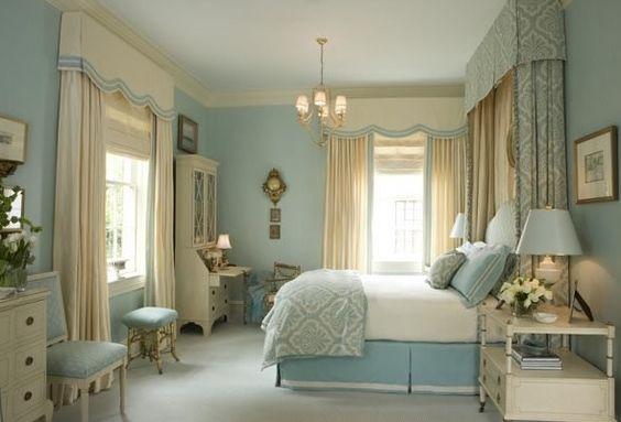 pottery teal table lamp | Si buscas que el dormitorio tenga la sensación de tener un techo más ...