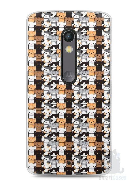 Capa Capinha Moto X Play Gatos - SmartCases - Acessórios para celulares e tablets :)