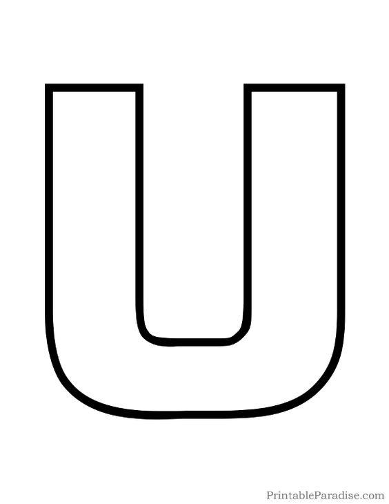 Printable Letter U Outline - Print Bubble Letter U ...