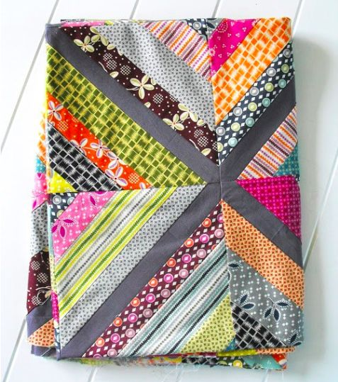 String Quilts for Putting Scraps to Use Facebook, Grey and Middle