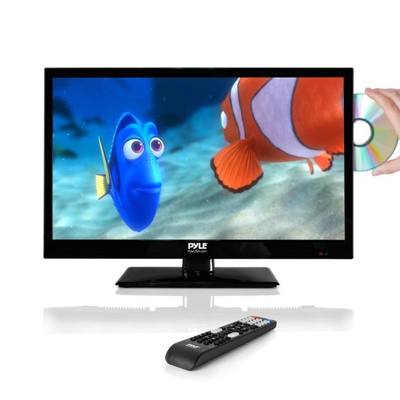 Pyle PTVDLED22 21.5-inch LED HD Flatscreen TV with Built-in CD/DVD Player