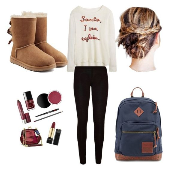 """Christmas clothes"" by brittneytaylorsparks on Polyvore featuring UGG Australia and JanSport"