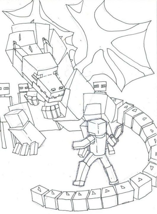 Ender Dragon Coloring Picture For Kids Dragon Coloring Page Minecraft Coloring Pages Unicorn Coloring Pages